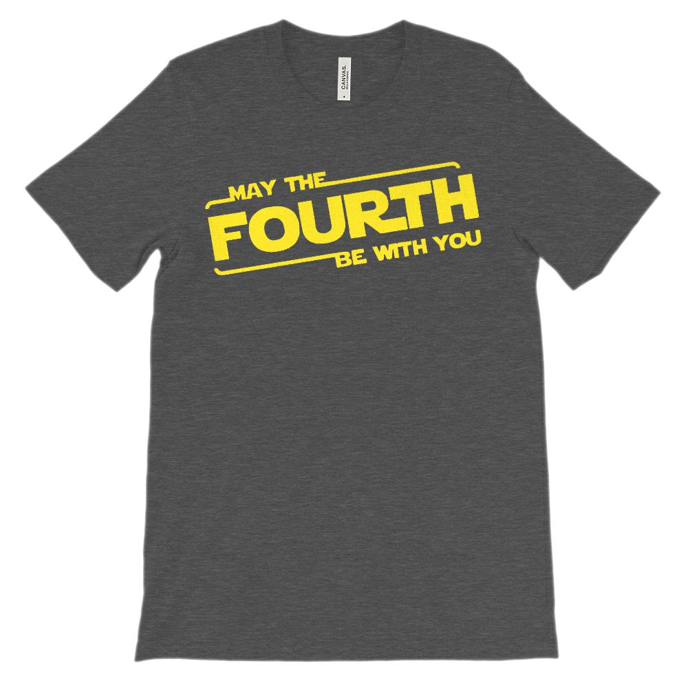 (Soft Unisex BC 3001) May the Fourth Be With You Graphic T-Shirt Tee BOXELS