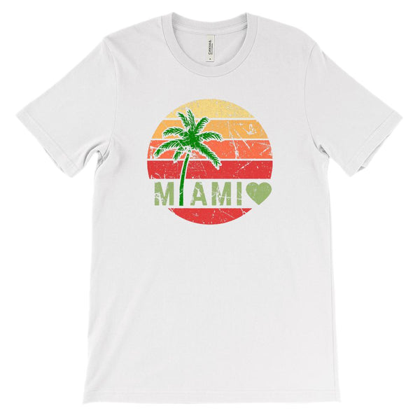 (Soft Unisex BC 3001) Miami Palm Sunset Graphic T-Shirt Tee BOXELS