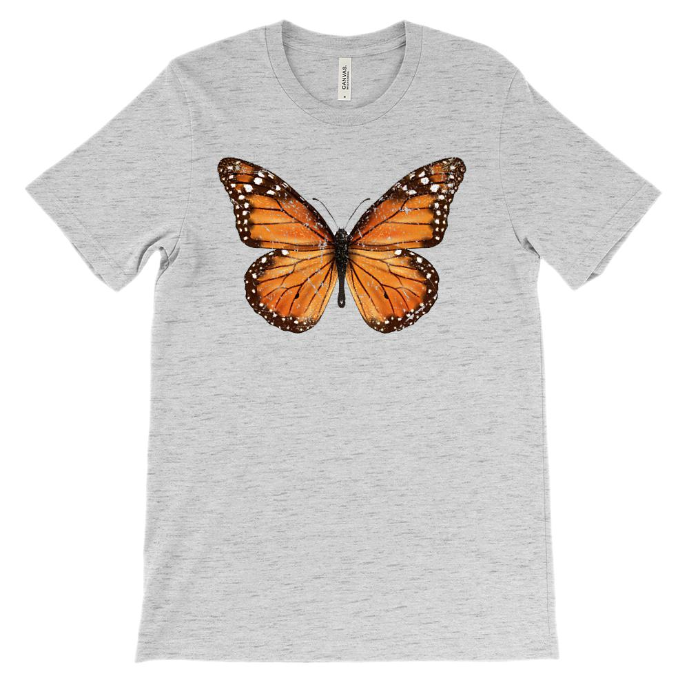 (Soft Unisex BC 3001) Monarch Butterfly Graphic T-Shirt Tee BOXELS