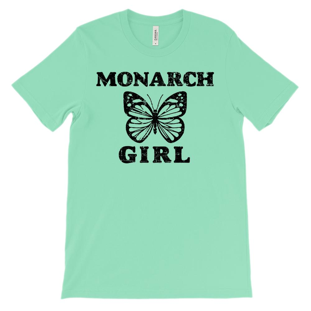 (Soft Unisex BC 3001) Monarch Girl Butterfly Graphic T-Shirt Tee BOXELS