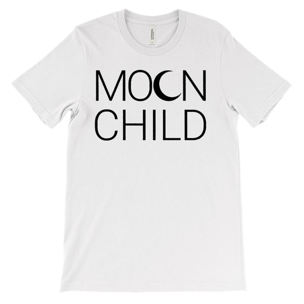 (Soft Unisex BC 3001) Moon Child Graphic T-Shirt Tee BOXELS