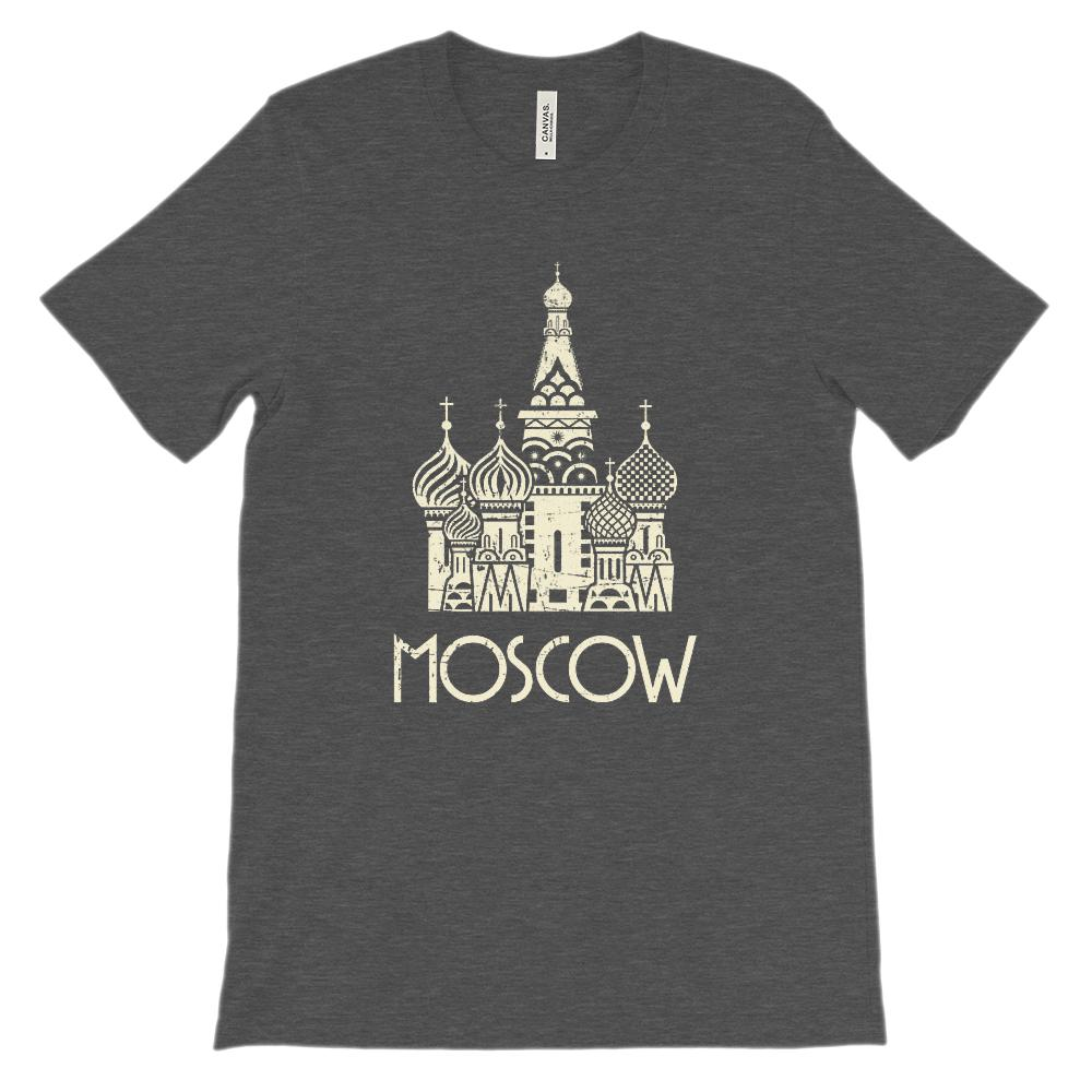(Soft Unisex BC 3001) Moscow (cream) Graphic T-Shirt Tee BOXELS
