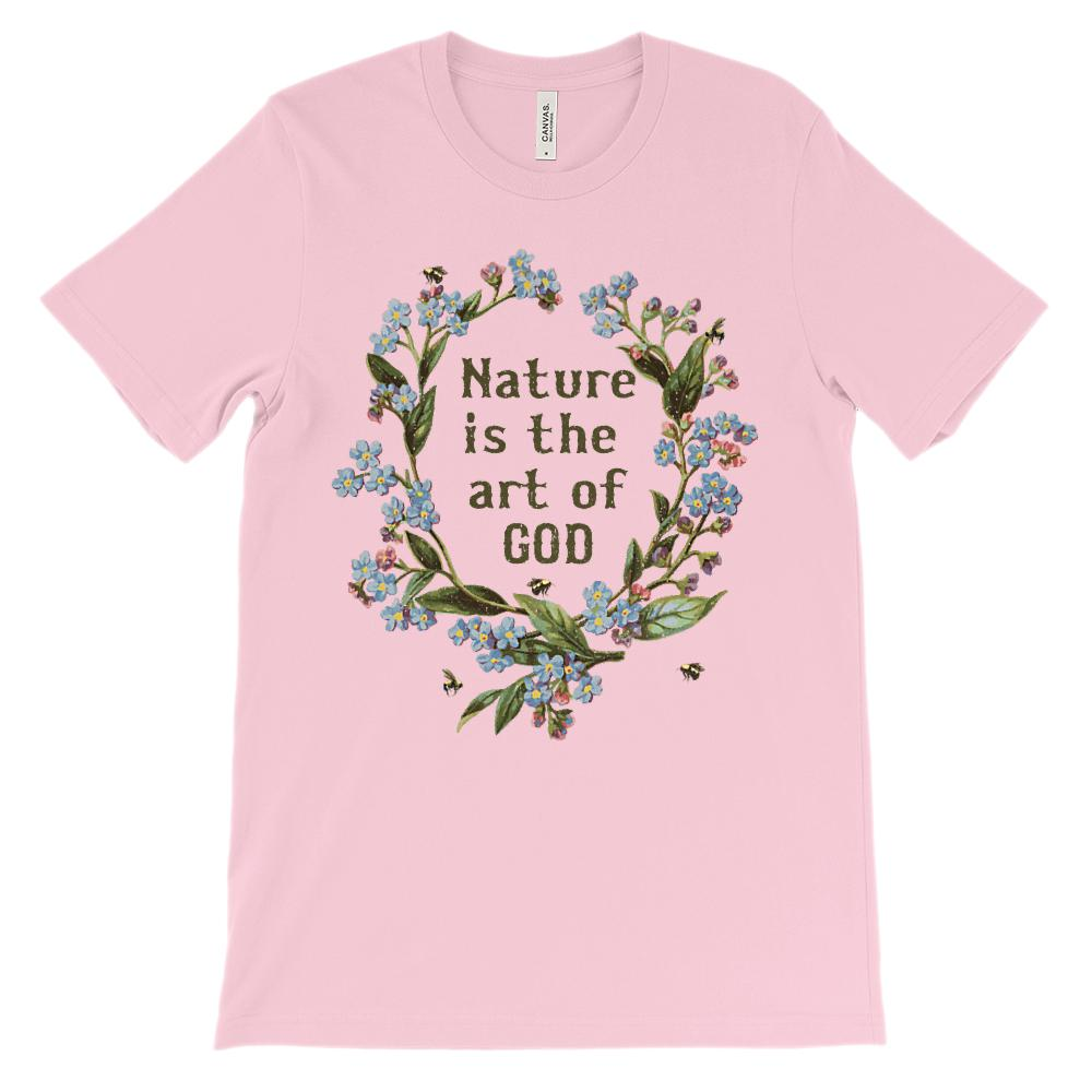 (Soft Unisex BC 3001) Nature is the Art of God Graphic T-Shirt Tee BOXELS