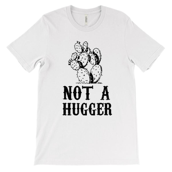 (Soft Unisex BC 3001) Not a Hugger Cacti Graphic T-Shirt Tee BOXELS