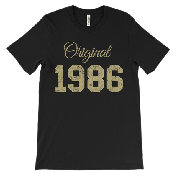 (Soft Unisex BC 3001) Original 1986 Tan Graphic T-Shirt Tee BOXELS