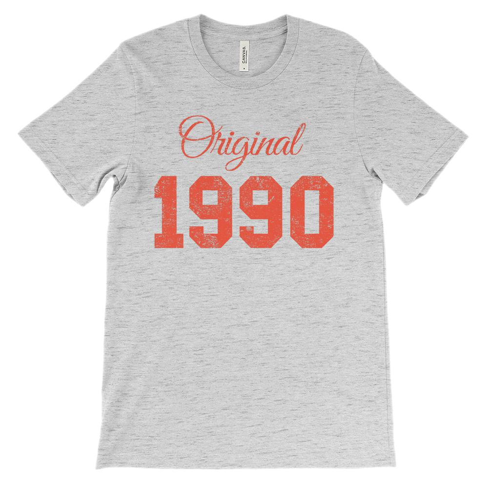 (Soft Unisex BC 3001) Original 1990 Graphic T-Shirt Tee BOXELS