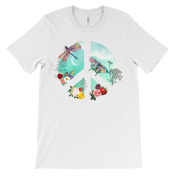 (Soft Unisex BC 3001) Peace Blue Ocean Nature Graphic T-Shirt Tee BOXELS