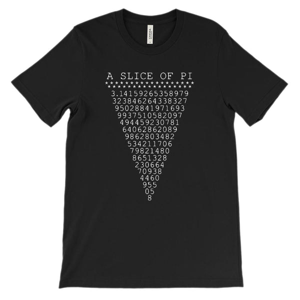 (Soft Unisex BC 3001) Slice of Pi Math Graphic T-Shirt Tee BOXELS