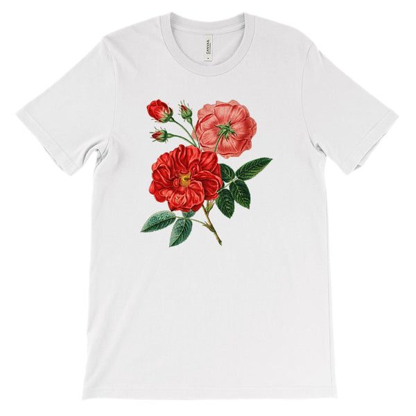 (Soft Unisex BC 3001) Spring Floral Vintage (Peonies) Graphic T-Shirt Tee BOXELS