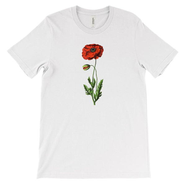 (Soft Unisex BC 3001) Spring Floral Vintage (Poppy) Graphic T-Shirt Tee BOXELS