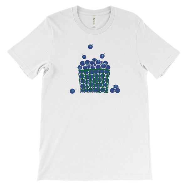 (Soft Unisex BC 3001) Spring & Summer Fruit Basket ( Blueberries ) Graphic T-Shirt Tee BOXELS