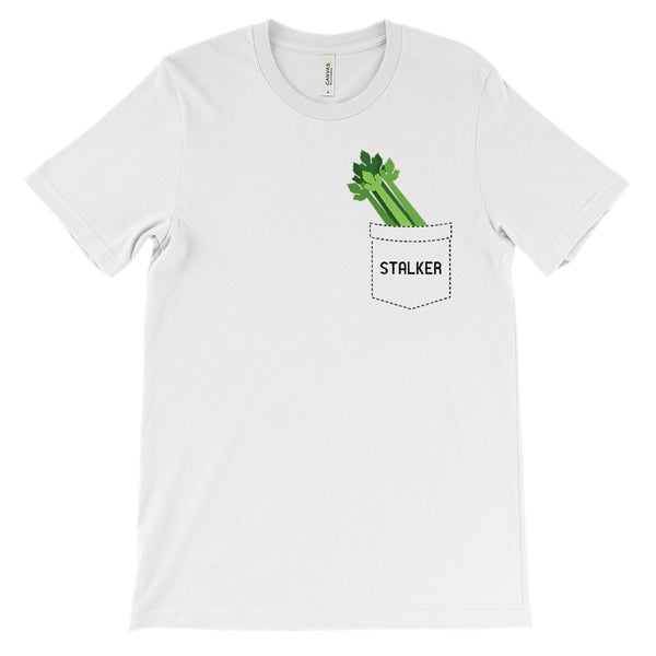 (Soft Unisex BC 3001) Stalker Stalk Fake Pocket Celery Graphic T-Shirt Tee BOXELS