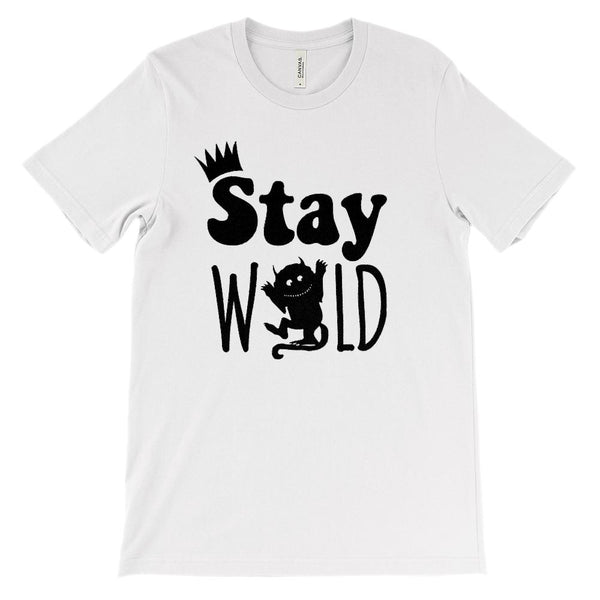 (Soft Unisex BC 3001) Stay Wild Graphic T-Shirt Tee BOXELS