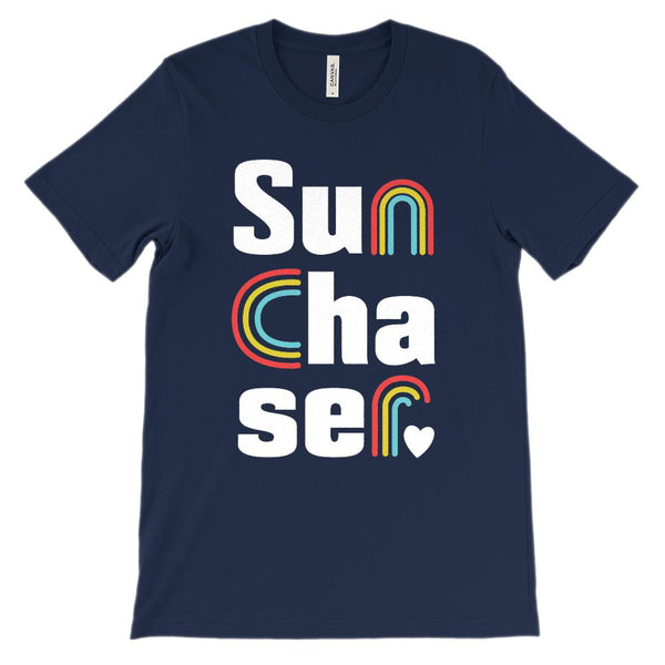 (Soft Unisex BC 3001) Sun Chaser Rainbows Graphic T-Shirt Tee BOXELS