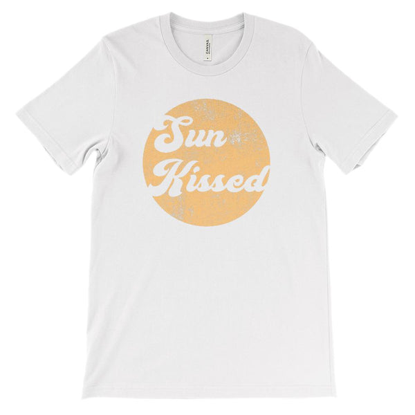 (Soft Unisex BC 3001) Sun Kissed (Grunged yellow) Graphic T-Shirt Tee BOXELS