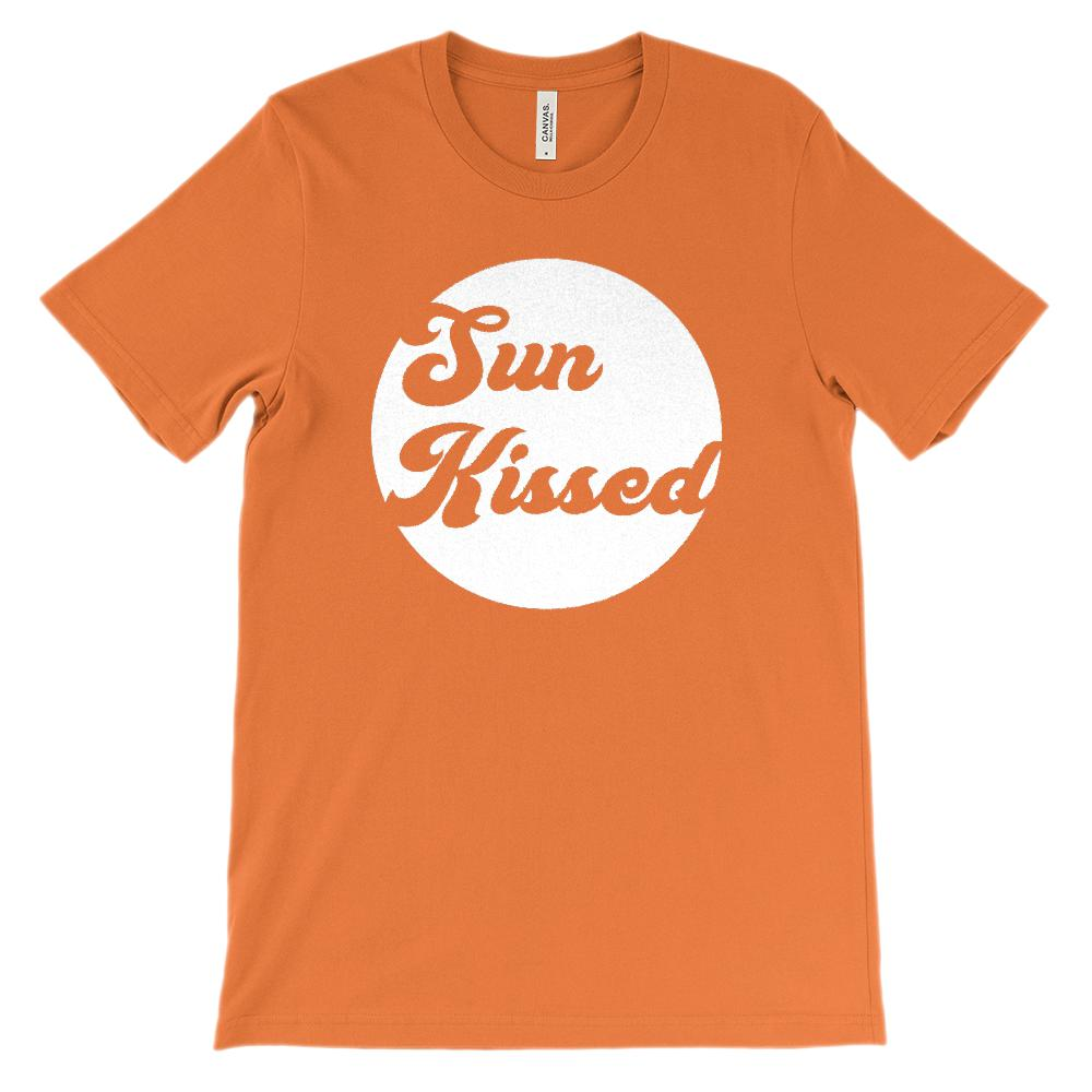 (Soft Unisex BC 3001) Sun Kissed (white no grunge) Graphic T-Shirt Tee BOXELS