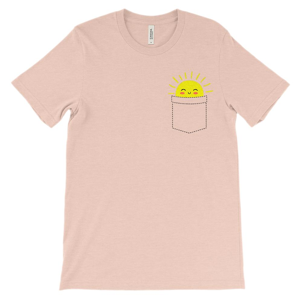 (Soft Unisex BC 3001) Sunshine Pocket Graphic T-Shirt Tee BOXELS