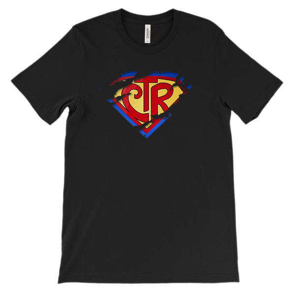 (Soft Unisex BC 3001) Super Hero CTR Christian Ripped Graphic T-Shirt Tee BOXELS