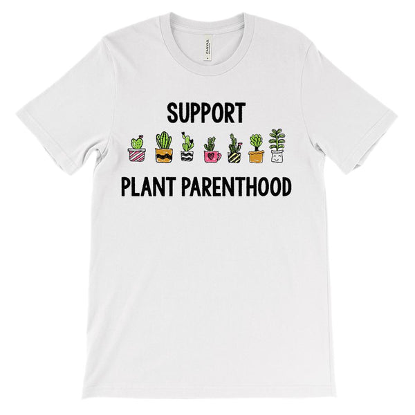 (Soft Unisex BC 3001) Support Plant Parenthood Graphic T-Shirt Tee BOXELS