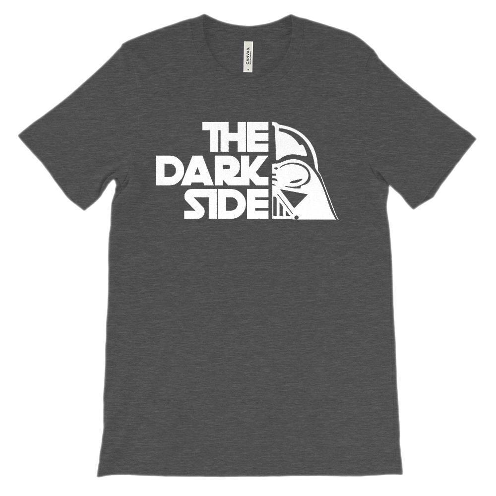 (Soft Unisex BC 3001) The Dark Side (negative white on darks) Graphic T-Shirt Tee BOXELS