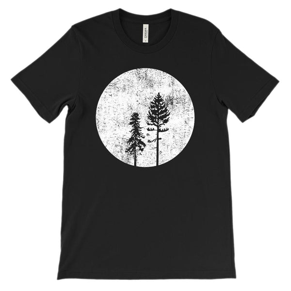 (Soft Unisex BC 3001) Tree Silhouette Moonlit Graphic T-Shirt Tee BOXELS
