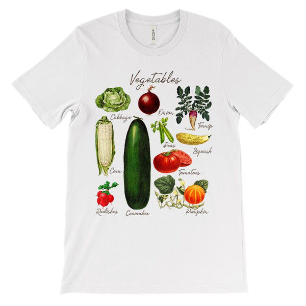 (Soft Unisex BC 3001) Vegetables Graphic T-Shirt Tee BOXELS
