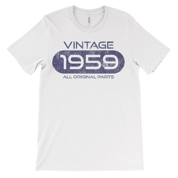 (Soft Unisex BC 3001) Vintage All Original Parts 1959 (navy) Graphic T-Shirt Tee BOXELS