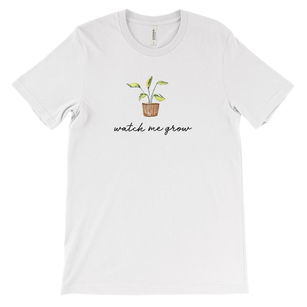 (Soft Unisex BC 3001) Watch Me Grow Plant