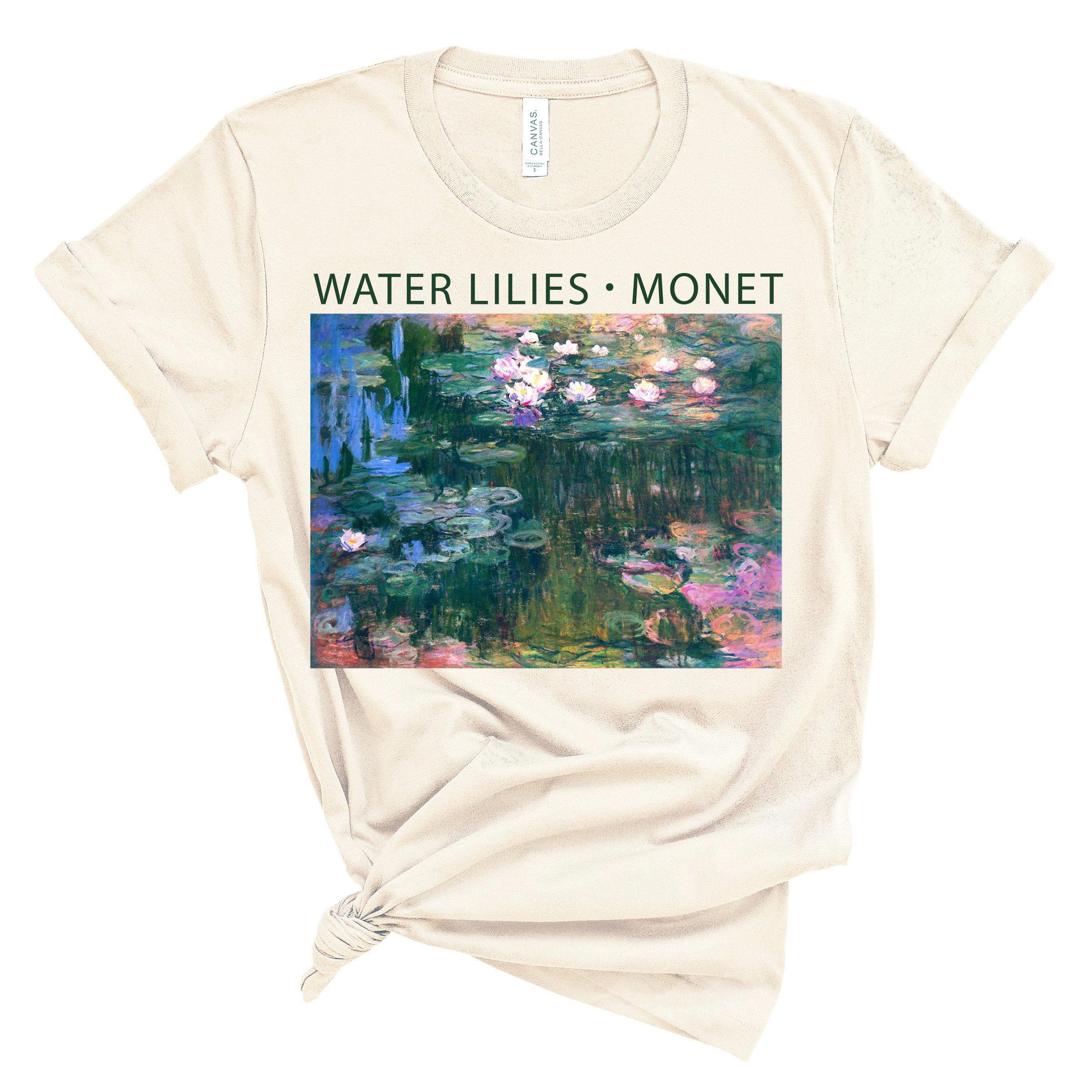 (Soft Unisex BC 3001) Water Lilies Monet Graphic T-Shirt Tee BOXELS