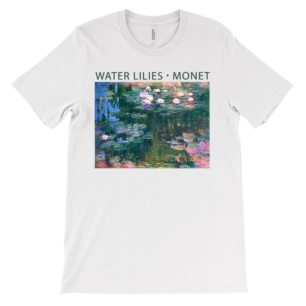 (Soft Unisex BC 3001) Water Lilies Monet