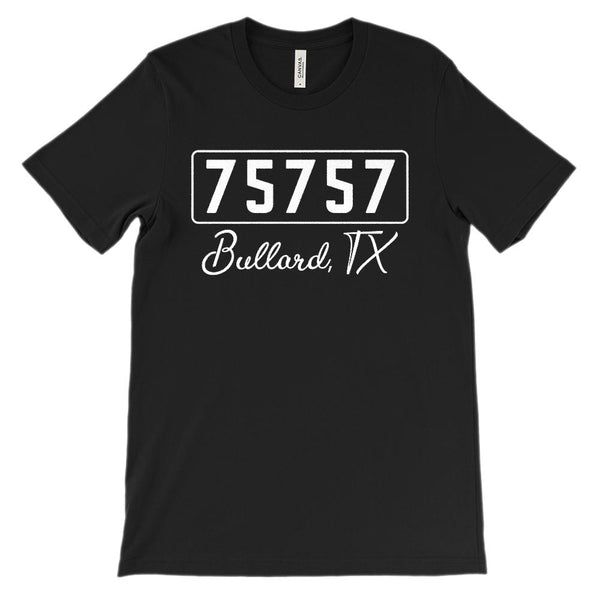 (Soft Unisex BC 3001) Zipcode City State Bullard, TX 75757 Graphic T-Shirt Tee BOXELS
