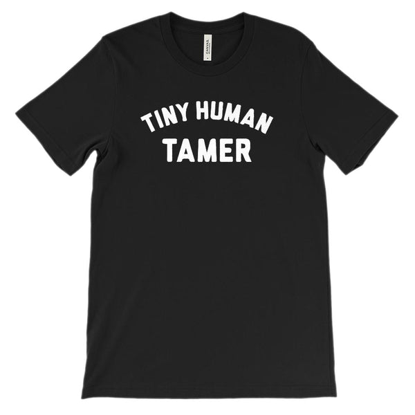 (Soft Unisex Bella Canvas Darks) Tiny Human Tamer Graphic T-Shirt Tee BOXELS