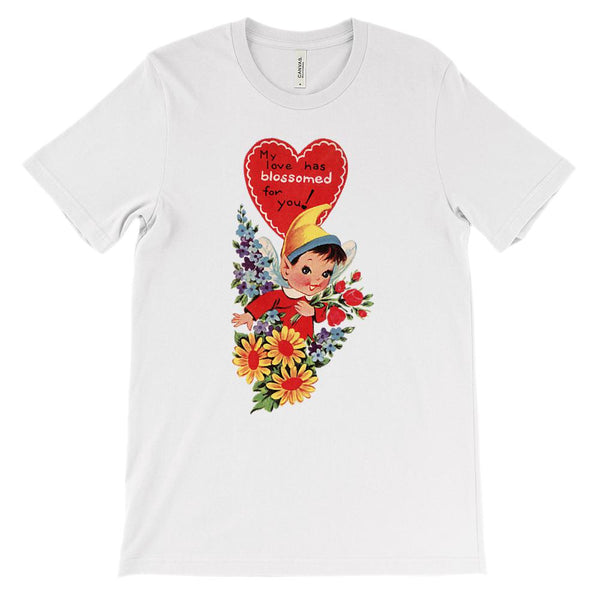 (Soft Unisex Bella Canvas Lights) Love Fairy Blossomed Vintage Retro Graphic T-Shirt Tee BOXELS