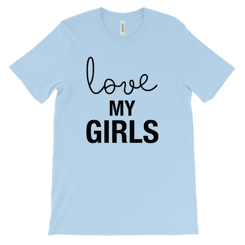 (Soft Unisex Bella Canvas Lights) love MY GIRLS (black) Graphic T-Shirt Tee BOXELS