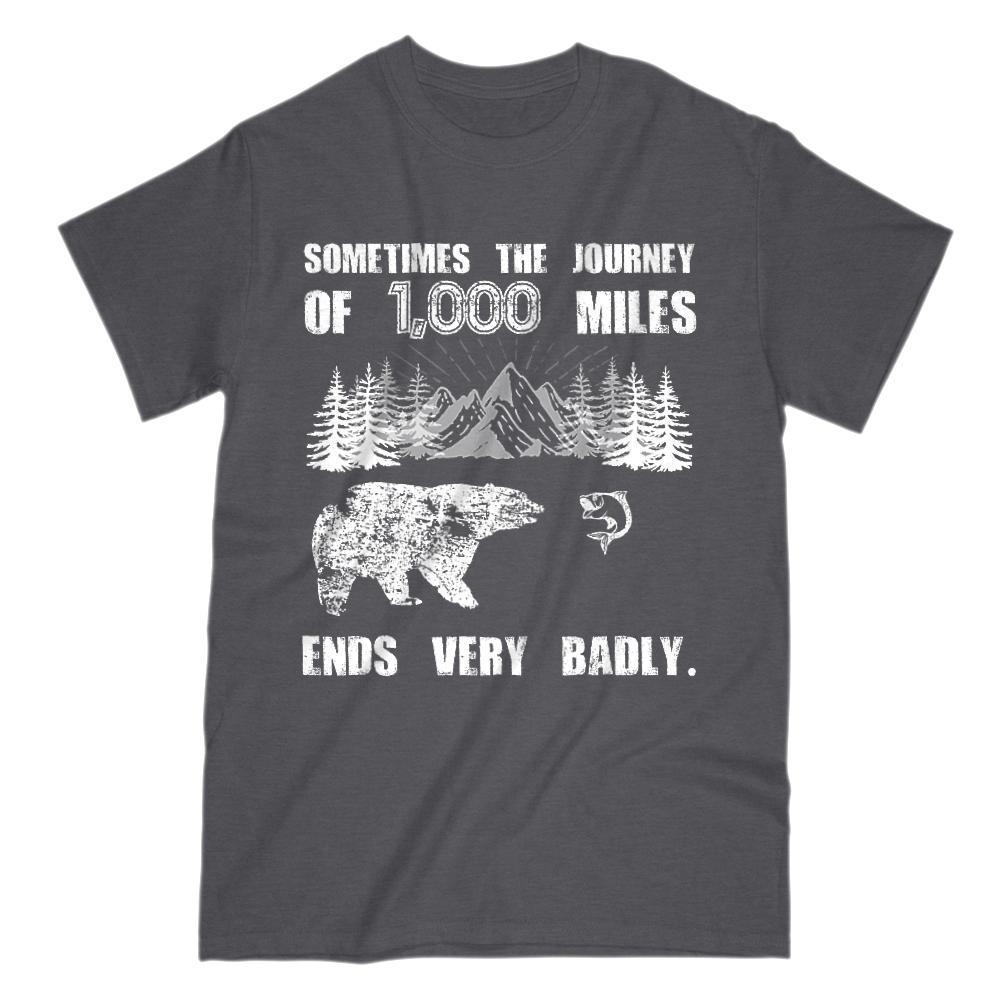 Sometimes the Journey of 1000 Miles Ends Very Badly Graphic T-Shirt Tee BOXELS