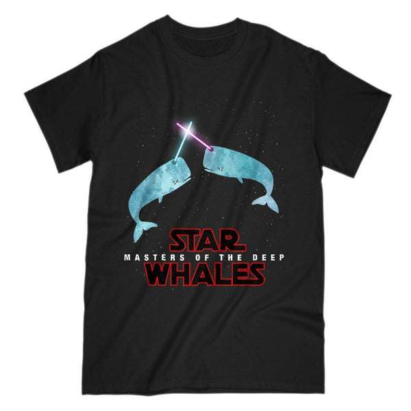 Star Whales Masters of the Deep Space Wars Parody T-Shirt Graphic T-Shirt Tee BOXELS