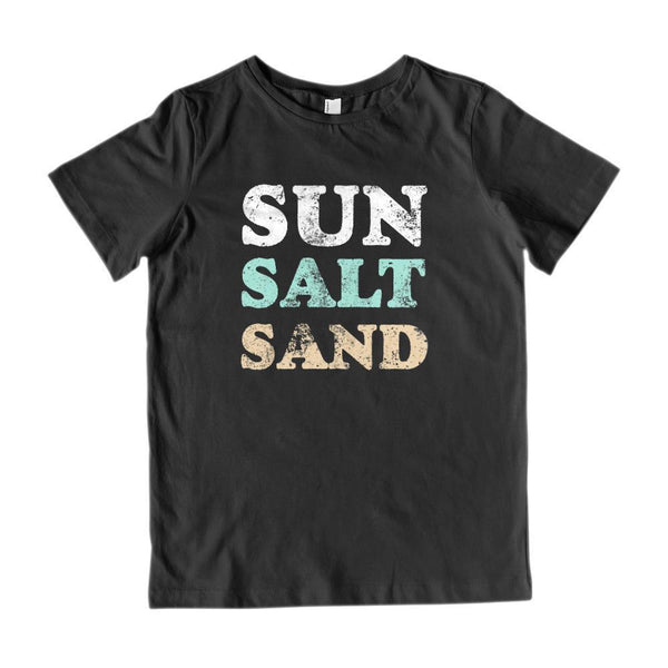 Sun Sand Salt Graphic Grunge Tee (Kids) Graphic T-Shirt Tee BOXELS