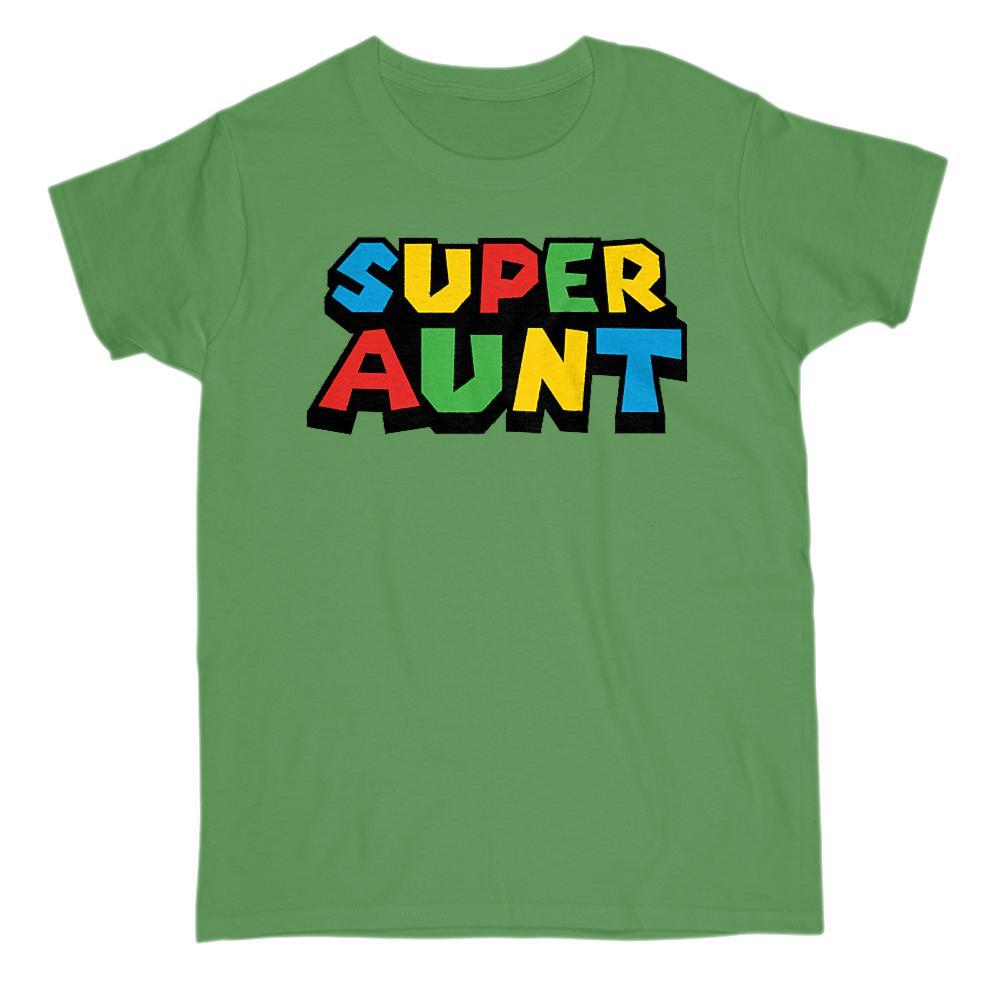Super Aunt (Auntie) Video Game Gamer Parody T-Shirt