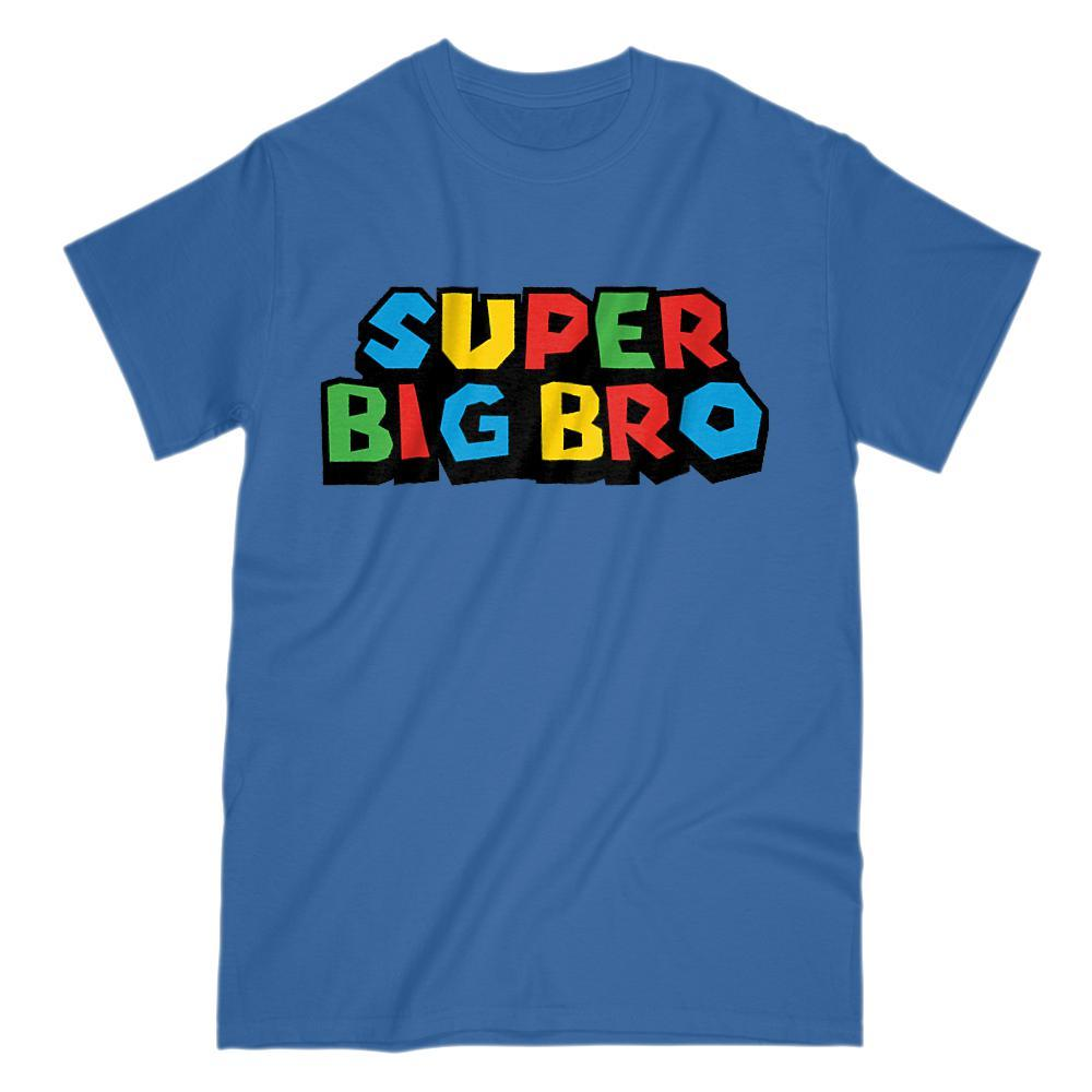Super Big Bro (Brother) Video Game Gamer Parody T-Shirt Graphic T-Shirt Tee BOXELS