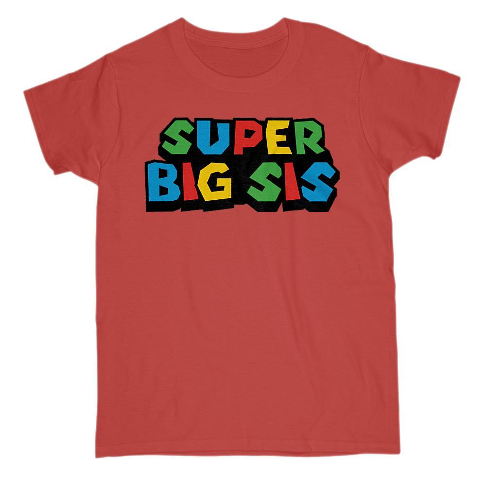 Super Big Sis (Sister) Video Game Gamer Parody T-Shirt Graphic T-Shirt Tee BOXELS