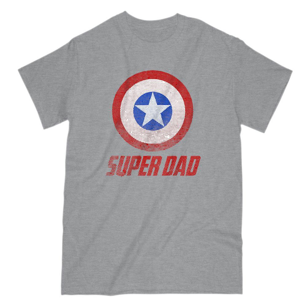 Super Dad Shield Hero V2 Graphic T-Shirt Tee BOXELS