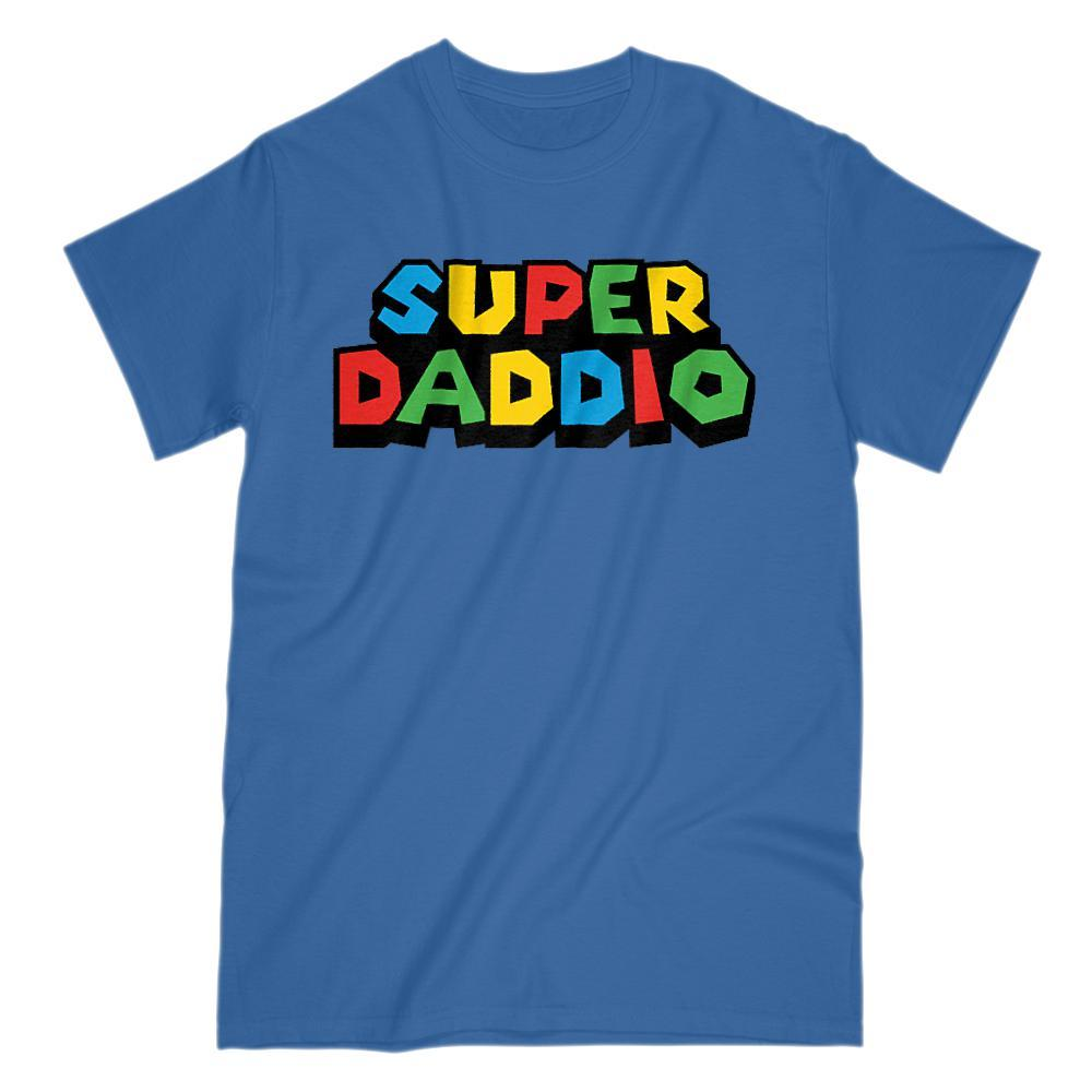 Super Daddio (Dad, Father) Video Game Gamer Parody T-Shirt Graphic T-Shirt Tee BOXELS