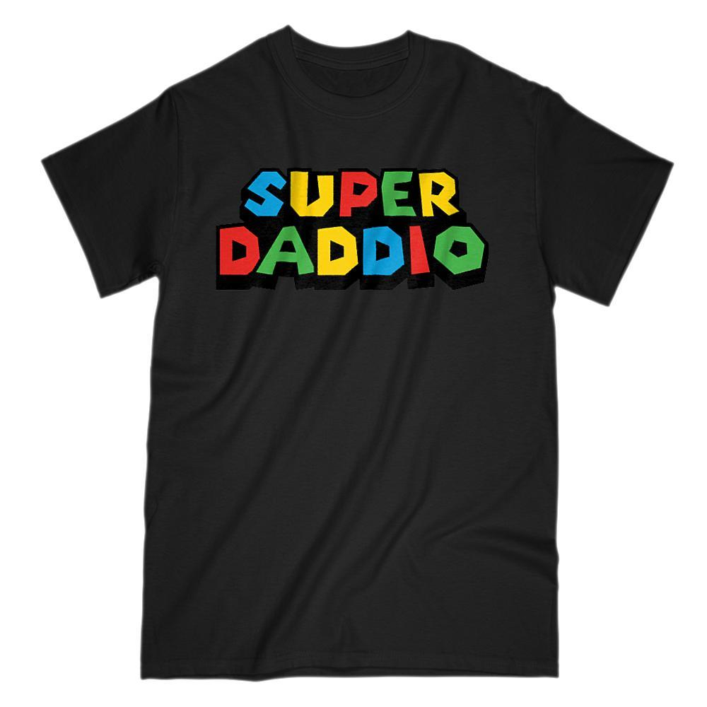 Super Daddio (Dad, Father) Video Game Gamer Parody T-Shirt