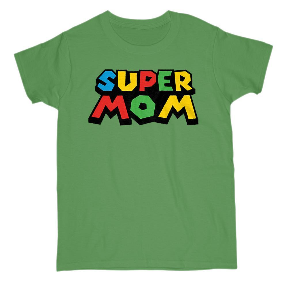 Super Mom (mother) Video Game Gamer Parody T-shirt Graphic T-Shirt Tee BOXELS