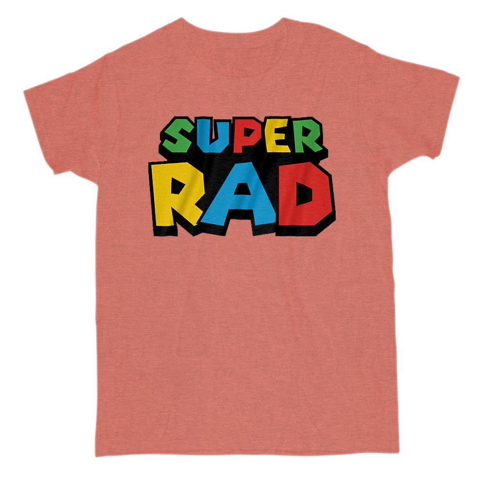 Super Rad (radical) Retro Video Game Gamer Parody T-Shirt Graphic T-Shirt Tee BOXELS