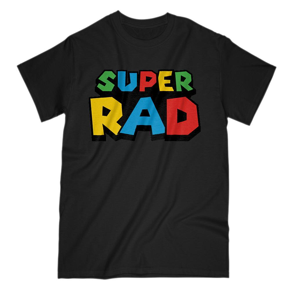 Super Rad (radical) Retro Video Game Gamer Parody T-Shirt
