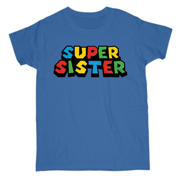 Super Sister Retro Video Game Gamer Parody T-Shirt Graphic T-Shirt Tee BOXELS