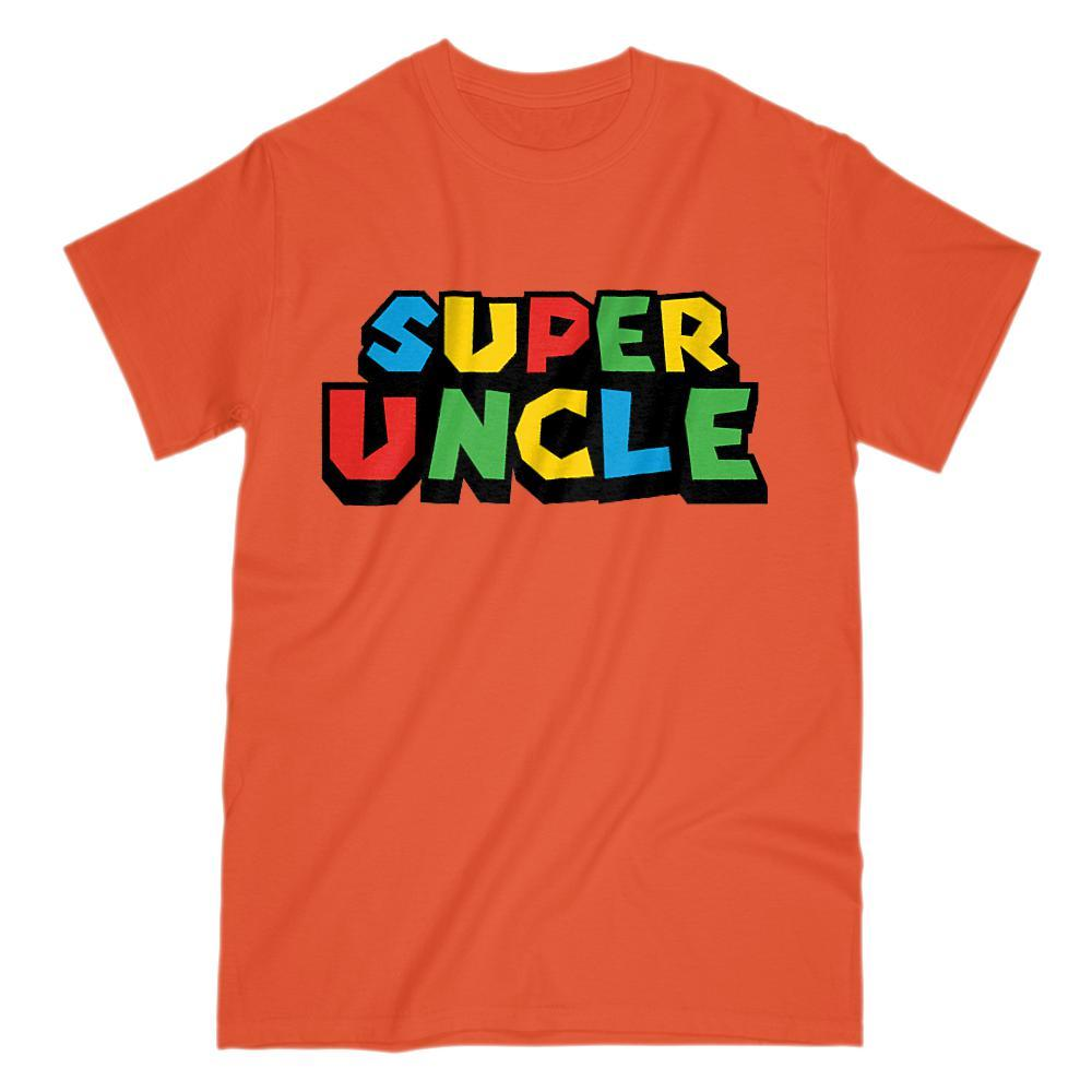 Super Uncle Retro Video Game Gamer Parody T-Shirt Graphic T-Shirt Tee BOXELS