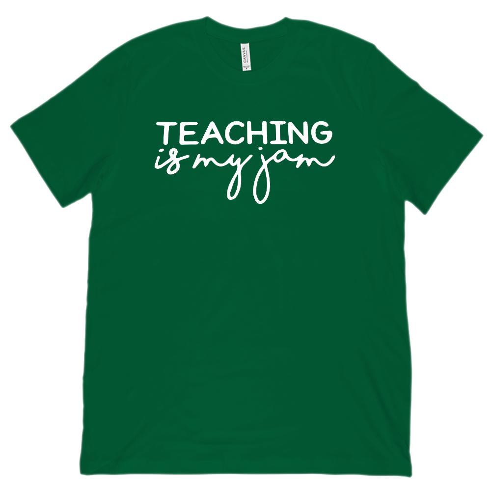 Teaching is my jam (Unisex BC 3001 Soft Tee) Graphic T-Shirt Tee BOXELS