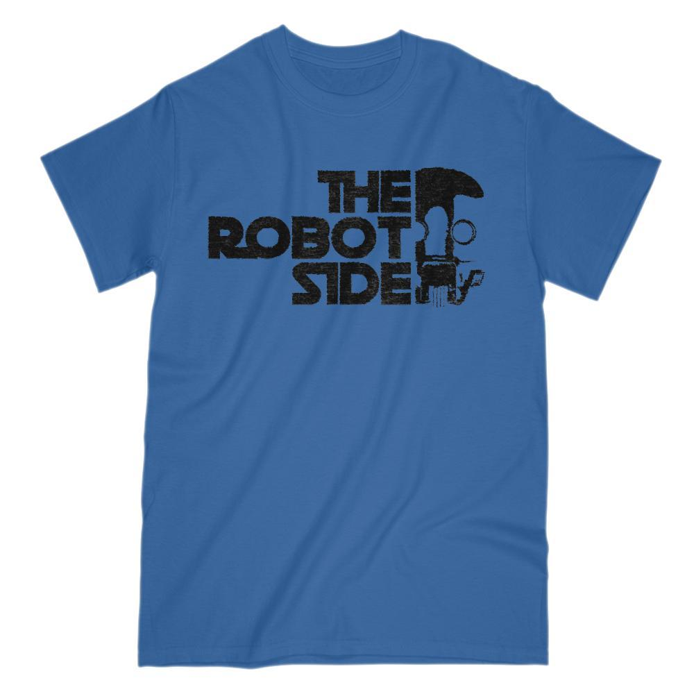 The Robot Side Space Wars Star Parody Graphic T-Shirt Graphic T-Shirt Tee BOXELS